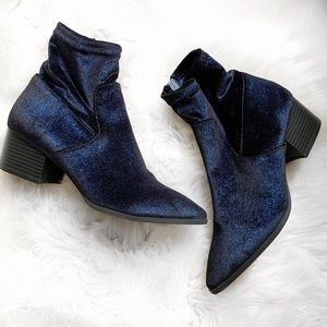 Coconuts by Matisse Blue Sparkle Sock Booties